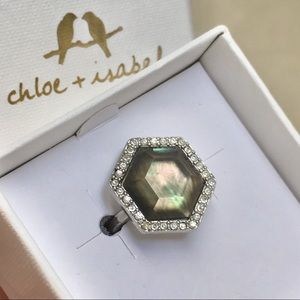 Chloe + Isabel Meridian Hexagon Ring